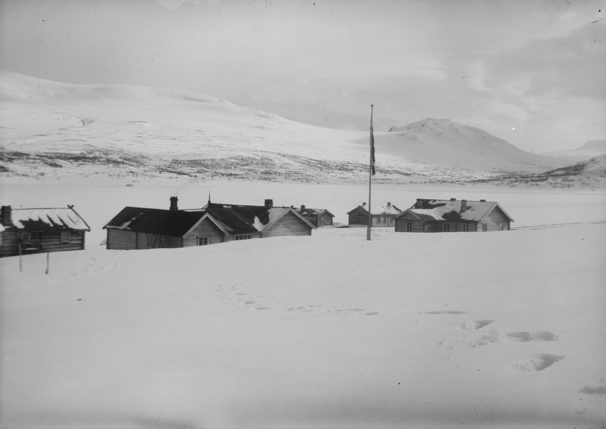 Sjodalen, Bessheim, vinter, bilde tatt mot sør