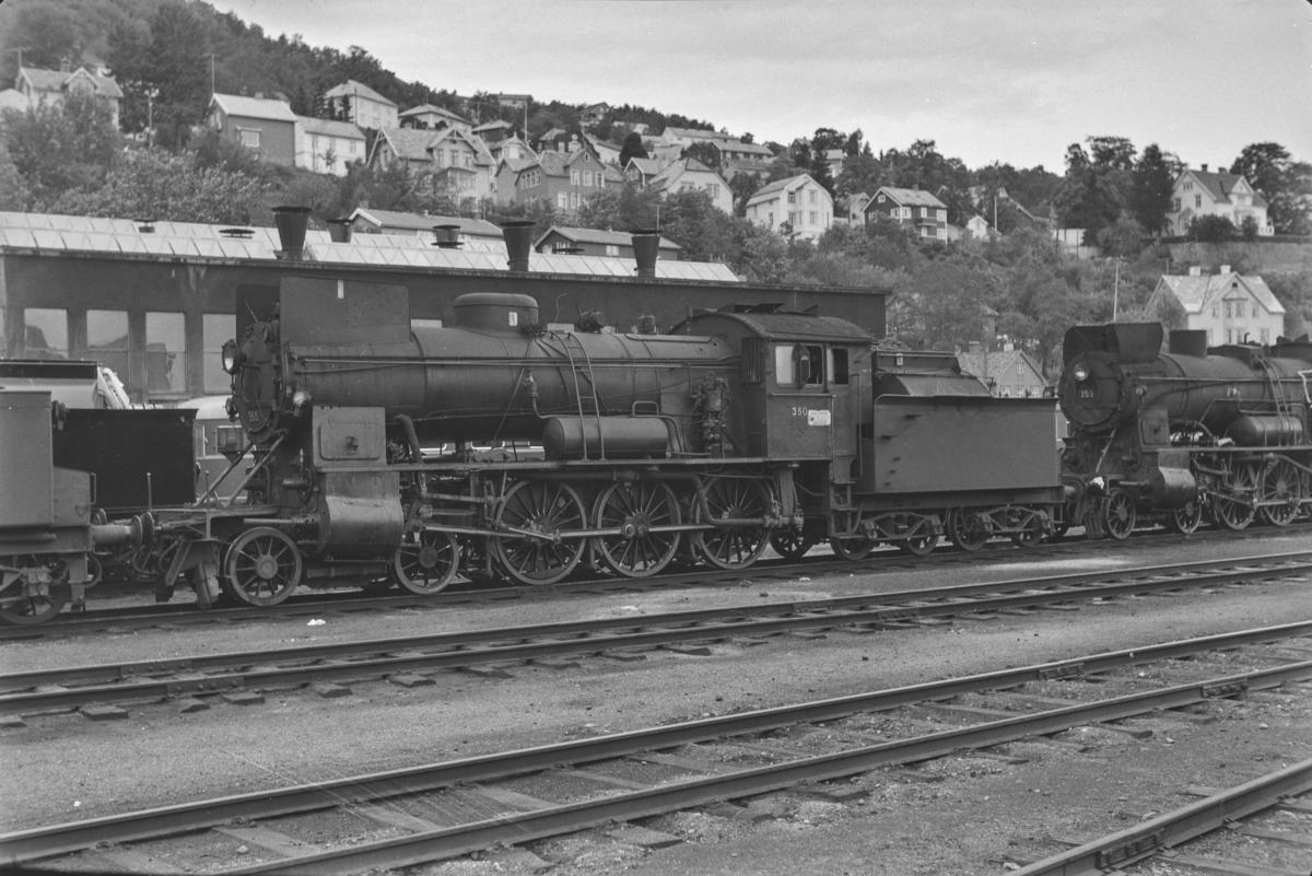 Damplokomotiv type 30b nr. 350 på Marienborg.