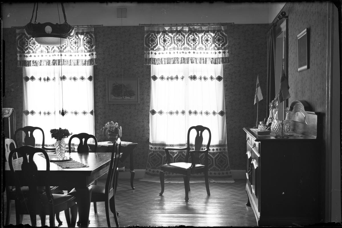 Interiörbild av matrum fotograferad åt Herr Rosell.