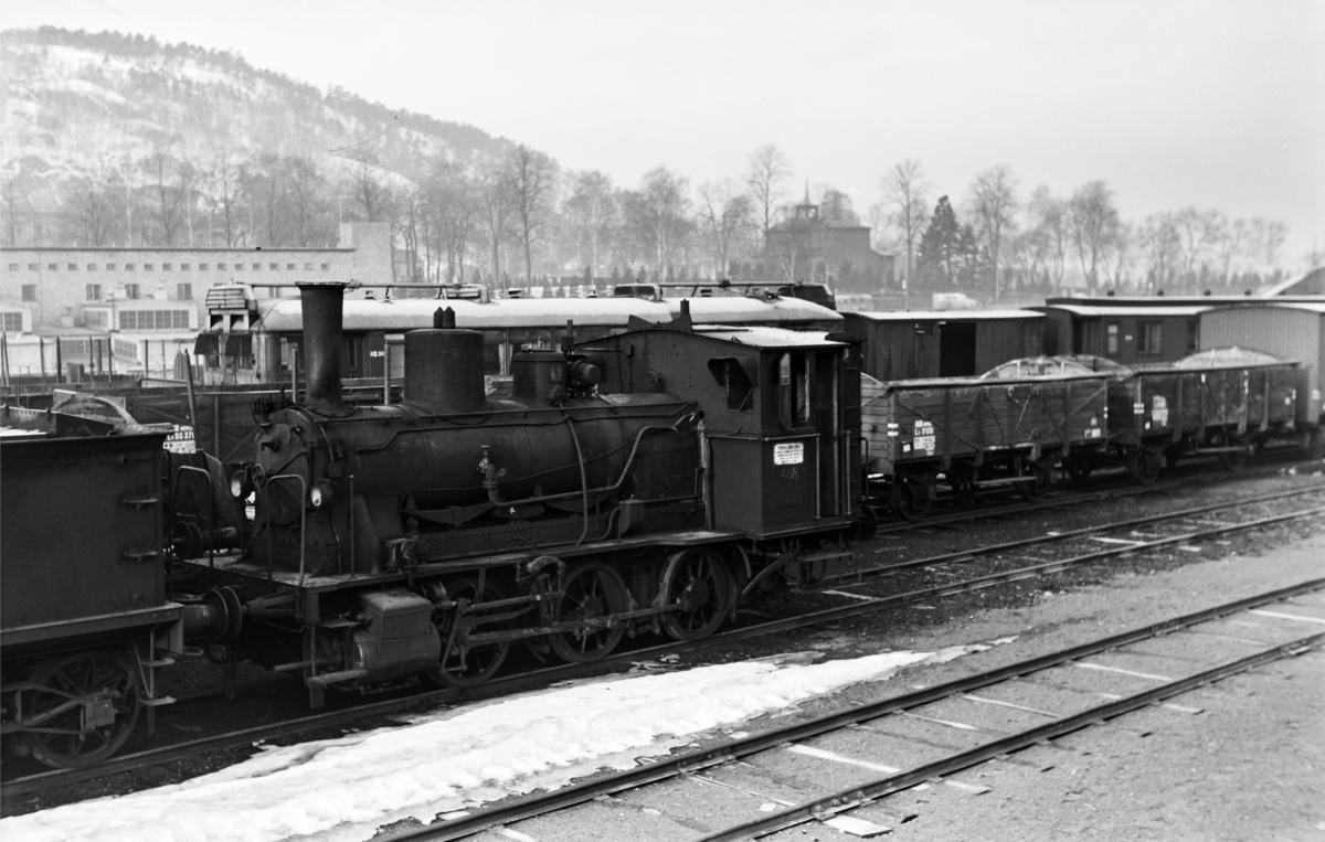Utrangert damplokomotiv type 25e nr. 488 i Lodalen i Oslo.