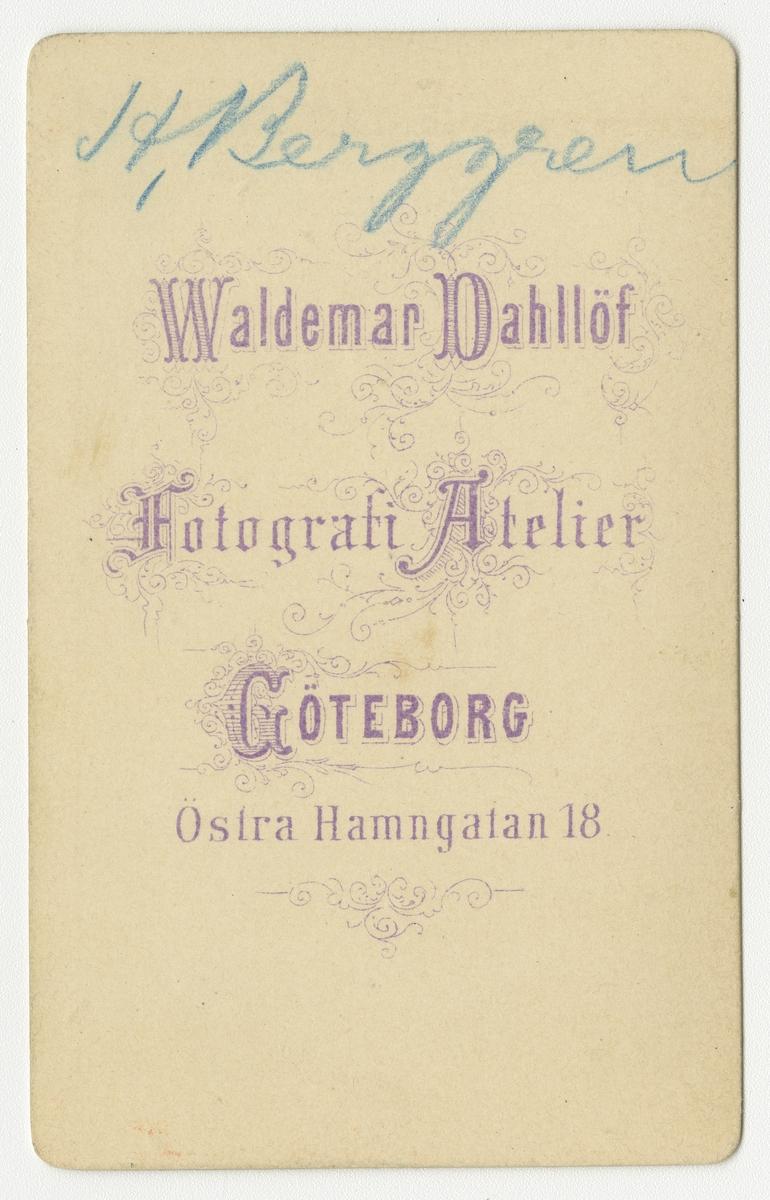 Porträtt av bankdirektör Berggren.