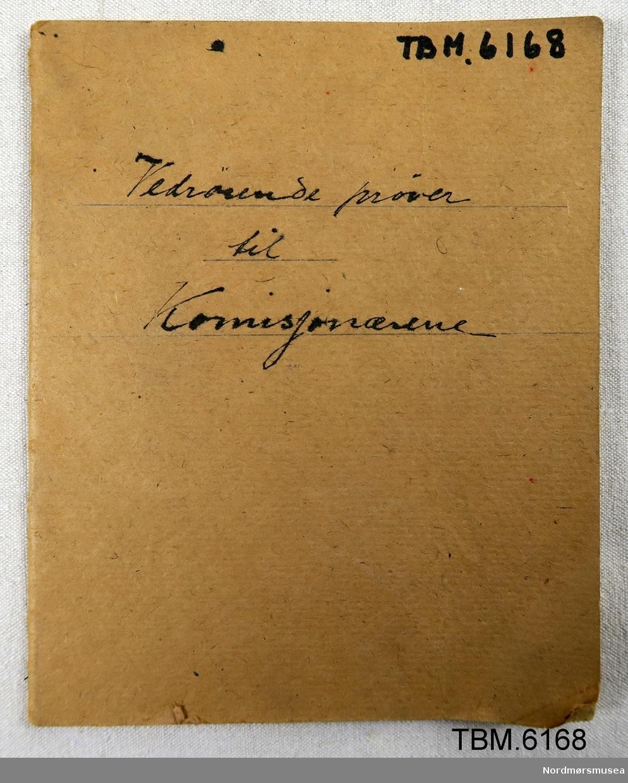 Kladdebok, hefte, med oppføring av kommisjonærer.