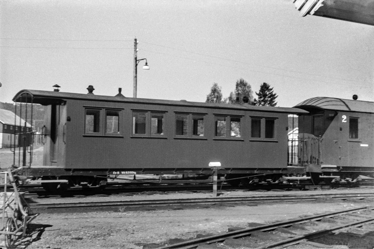Aurskog-Hølandbanens personvogn Co 9 på Bjørkelangen stasjon.