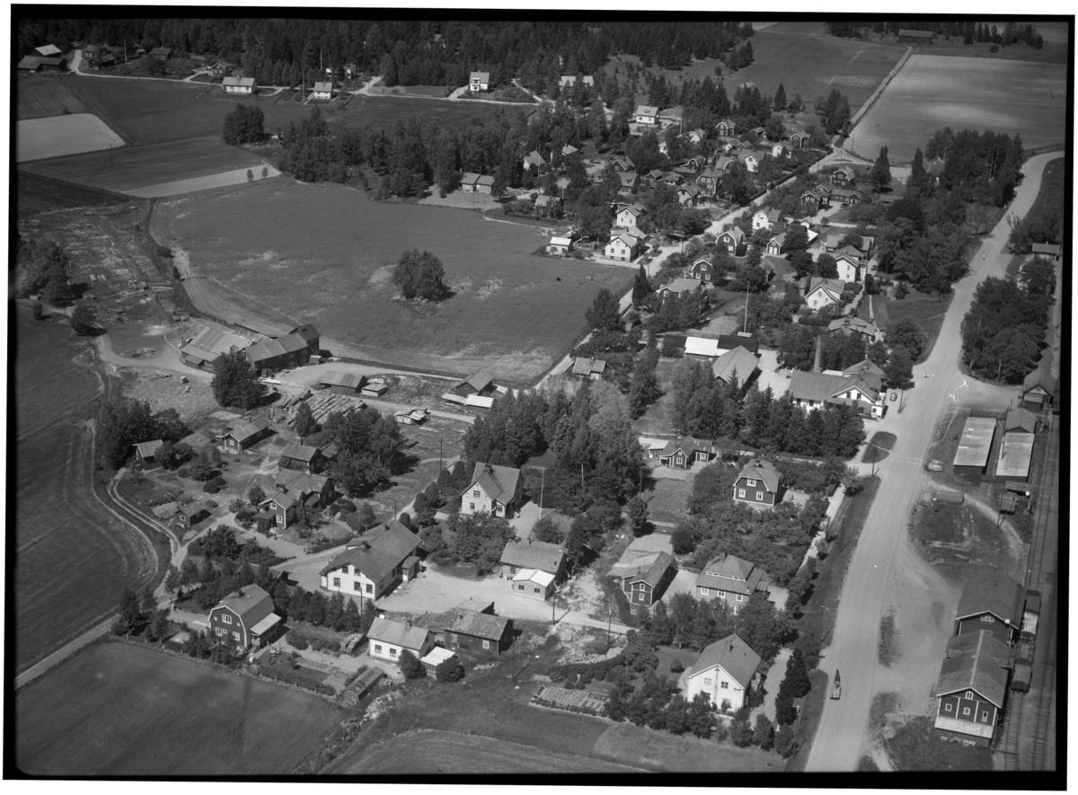 Flygfoto över Ransta, Sala