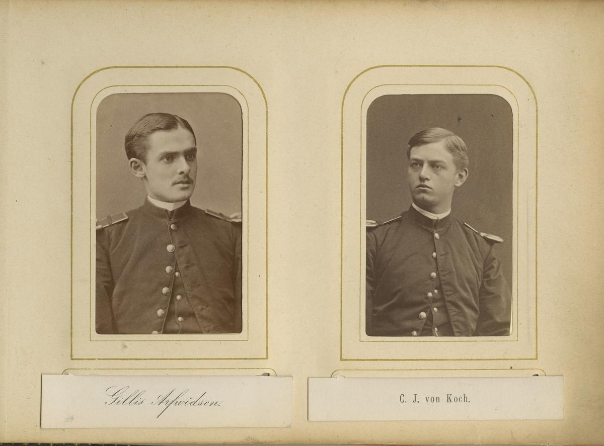 Porträtt av Johan Gillis Samuel Arfwidson vid Krigsskolan Karlberg.  Se även bild AMA.0006778.