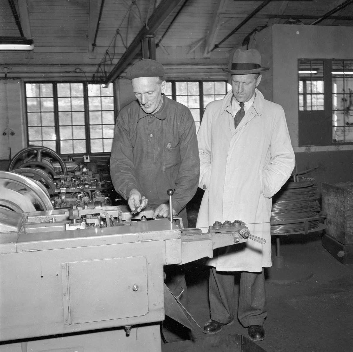 Kårbergs spikfabrik. Oktober 1956.