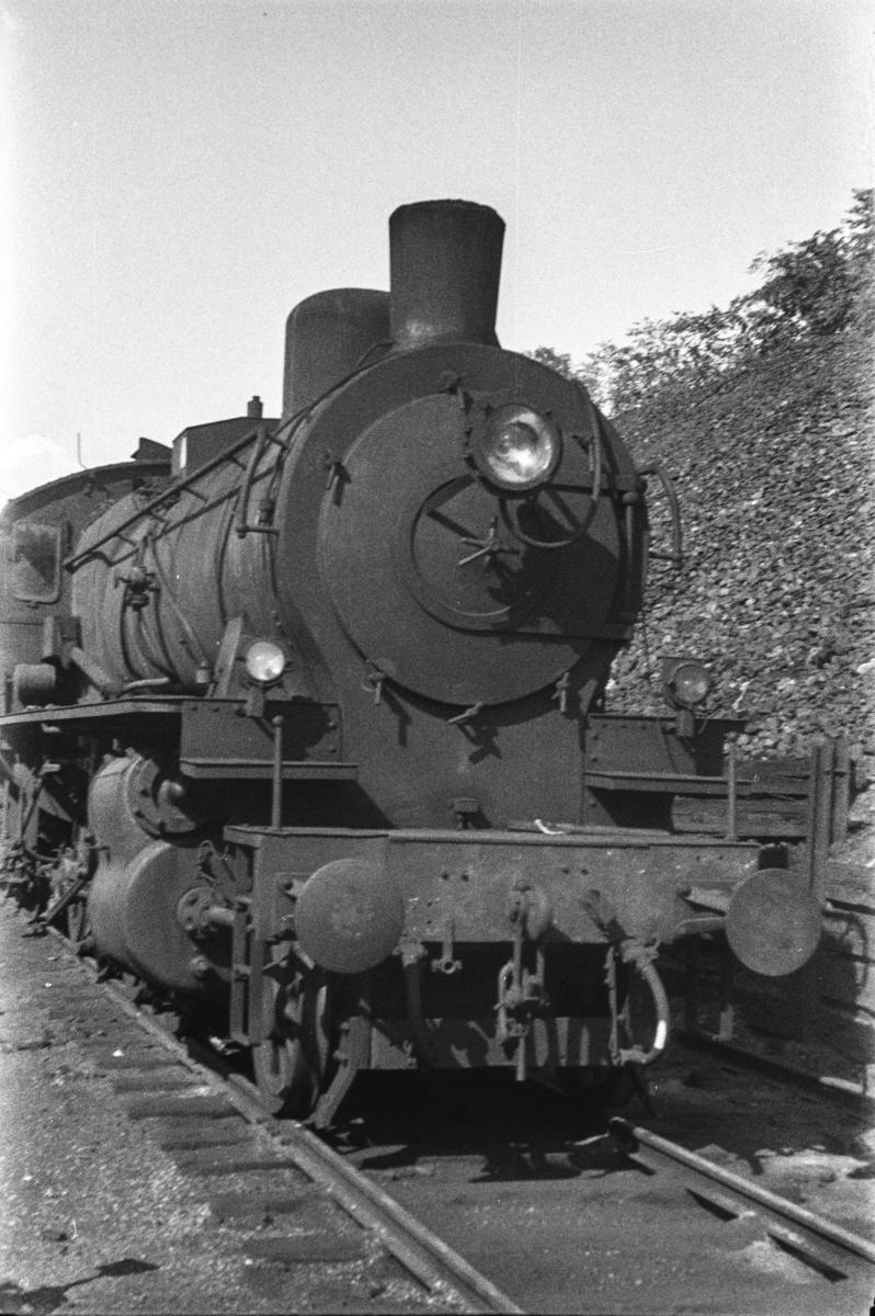 Hensatt damplokomotiv type 28a nr. 164 i Lodalen i Oslo.
