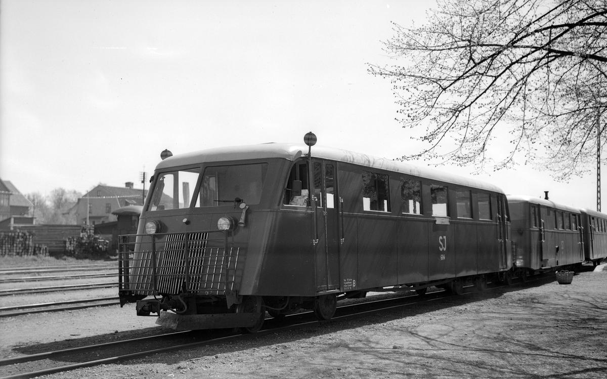 Statens Järnvägar, SJ Y01p 684, före detta Klintehamn - Roma Järnvägs rälsbuss KlRJ 11.