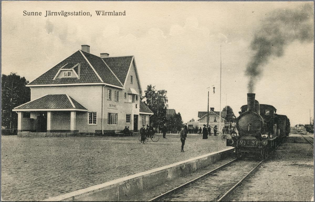 Sunne järnvägsstation.