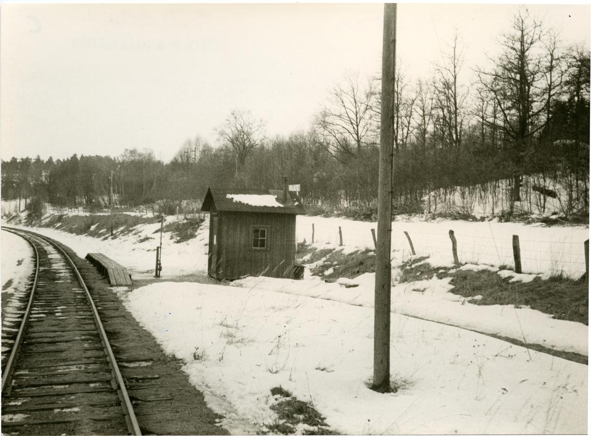 Ulricehamns Järnväg,UJ. Hållplatskuren flyttad 1987 till Järnvägsmuséet i Gävle.