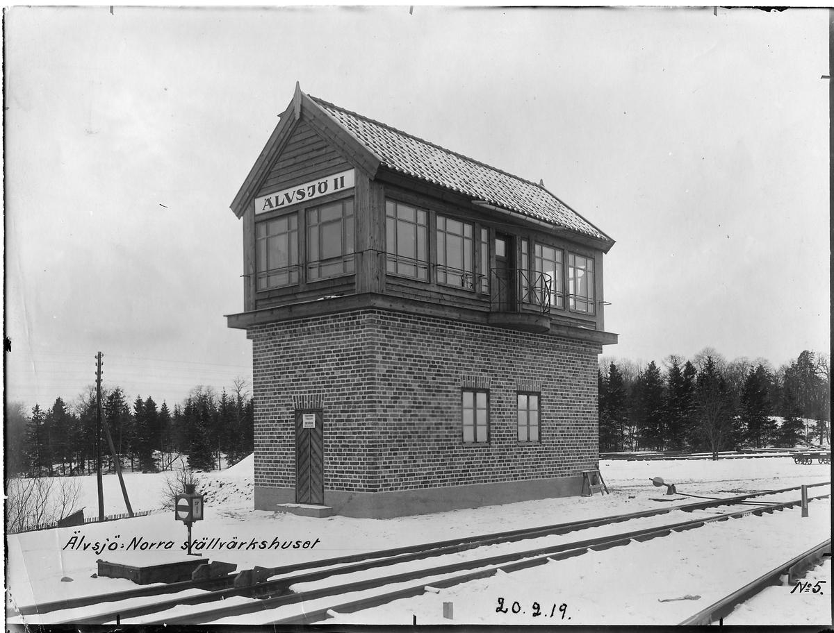 Norra ställverkshuset i Älvsjö.