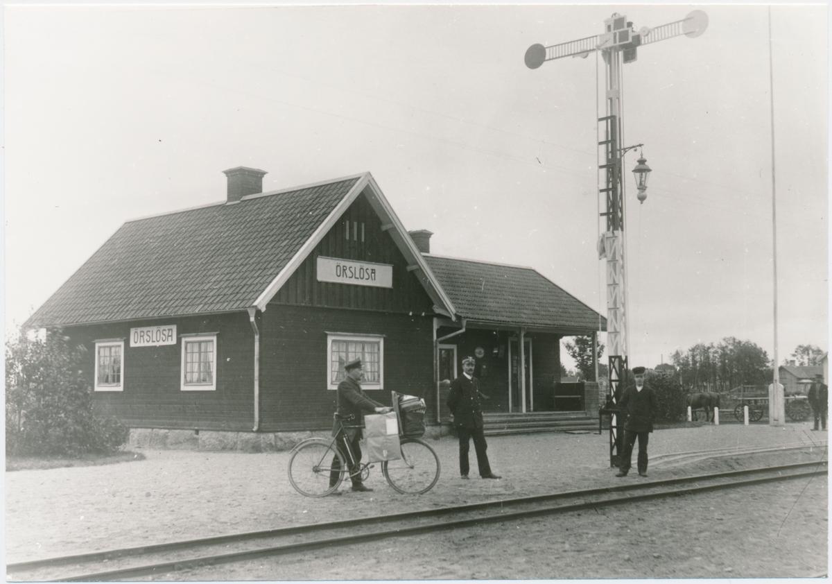 Örslösa station. Lidköpings Järnväg, LJ. Invigdes 11/11 1908 och lades ner 1938.