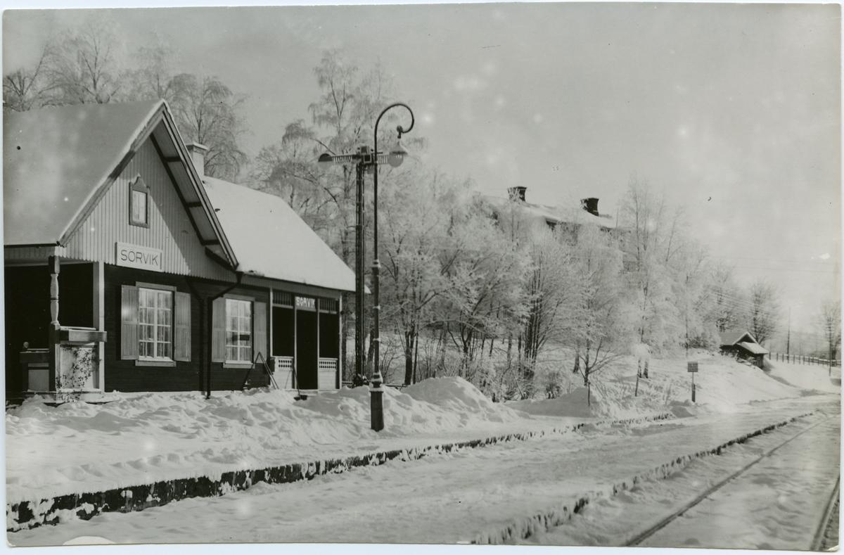 Sörviks station. Stockholm-Västerås-Bergslagens Järnvägar, SWB.