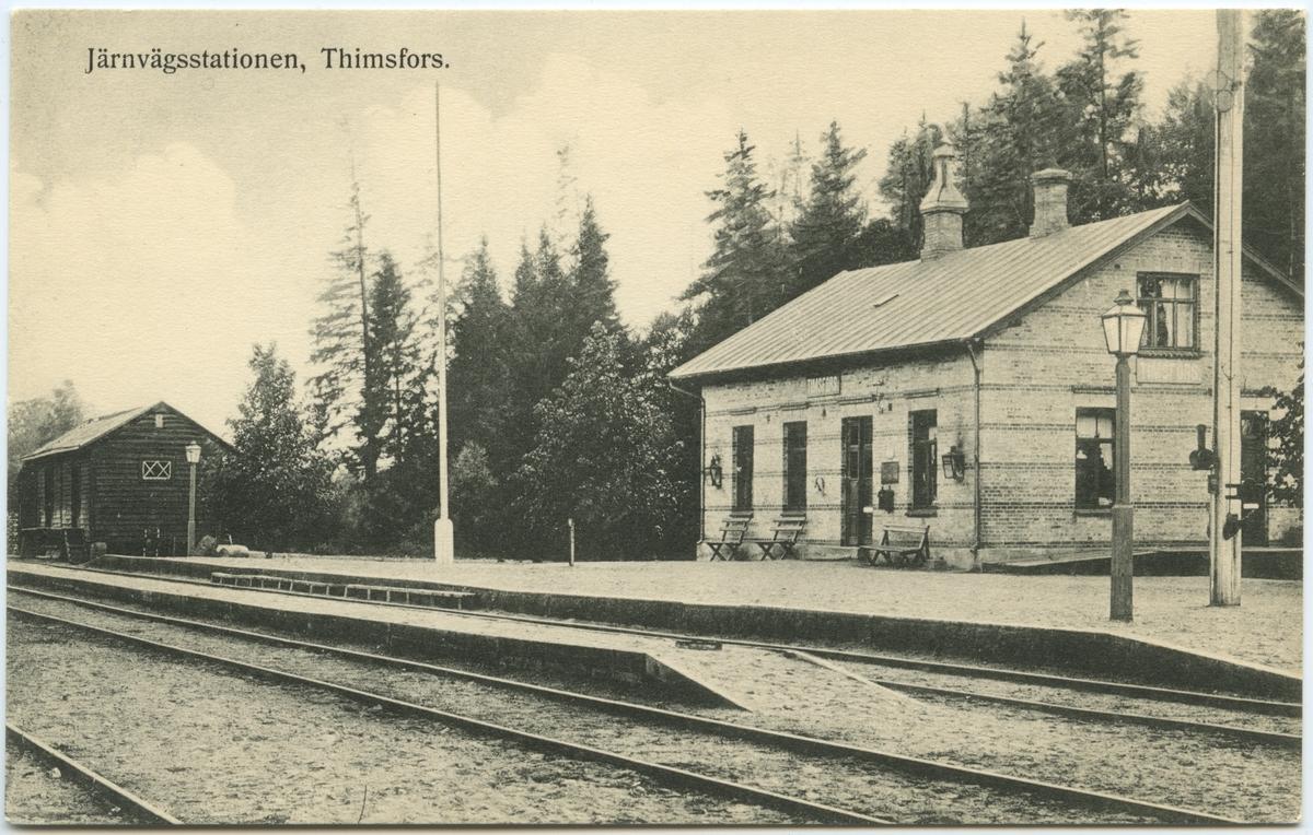 Skåne - Smålands Järnväg, SSJ. Timsfors station.