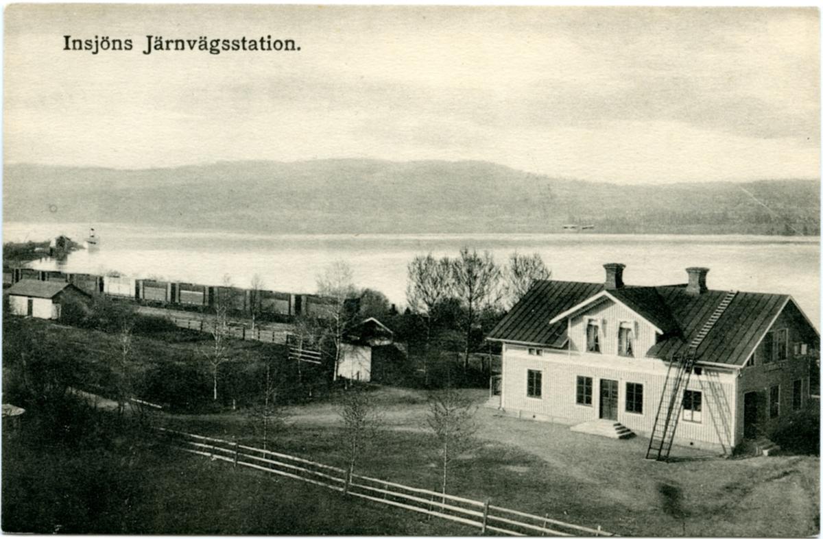 Vy vid Insjöns station.