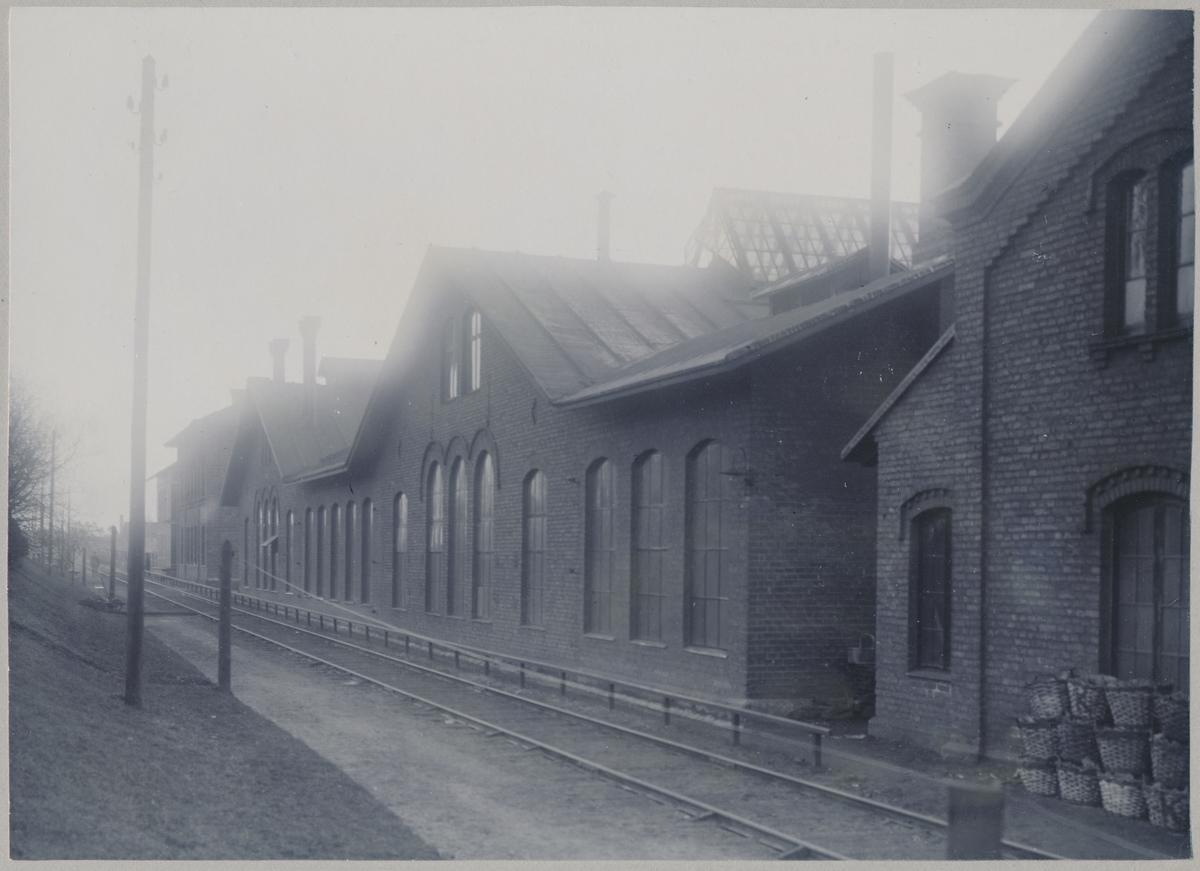 Fasad av maskinverkstaden i Östersund.