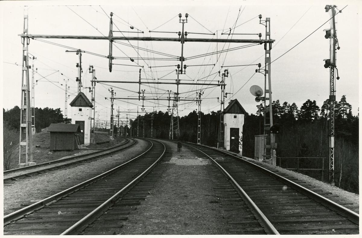 På stationsområdet vid dåvarande Södertälje Södra station.