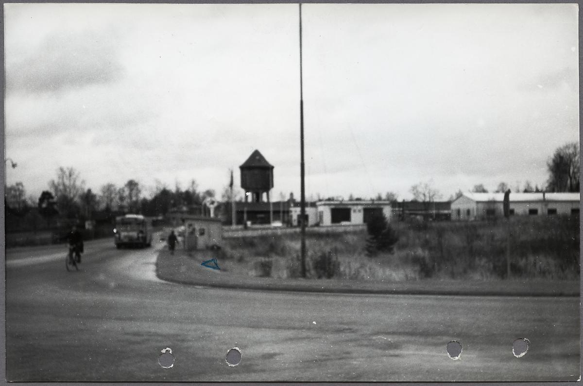 Korsningen Björkhamrevägen och Långgatan i Bollnäs.