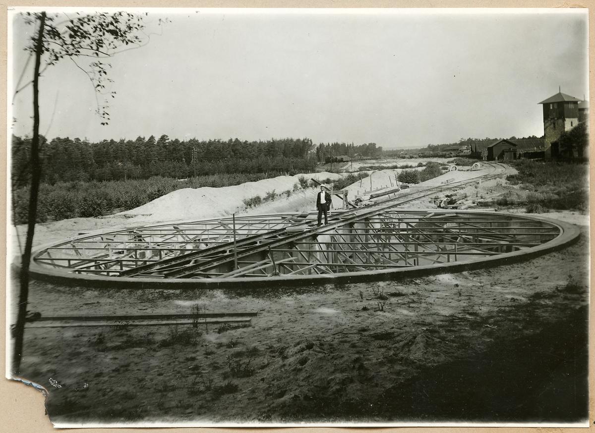Vändskiva 20 meter bred i Ängelholm 1915.