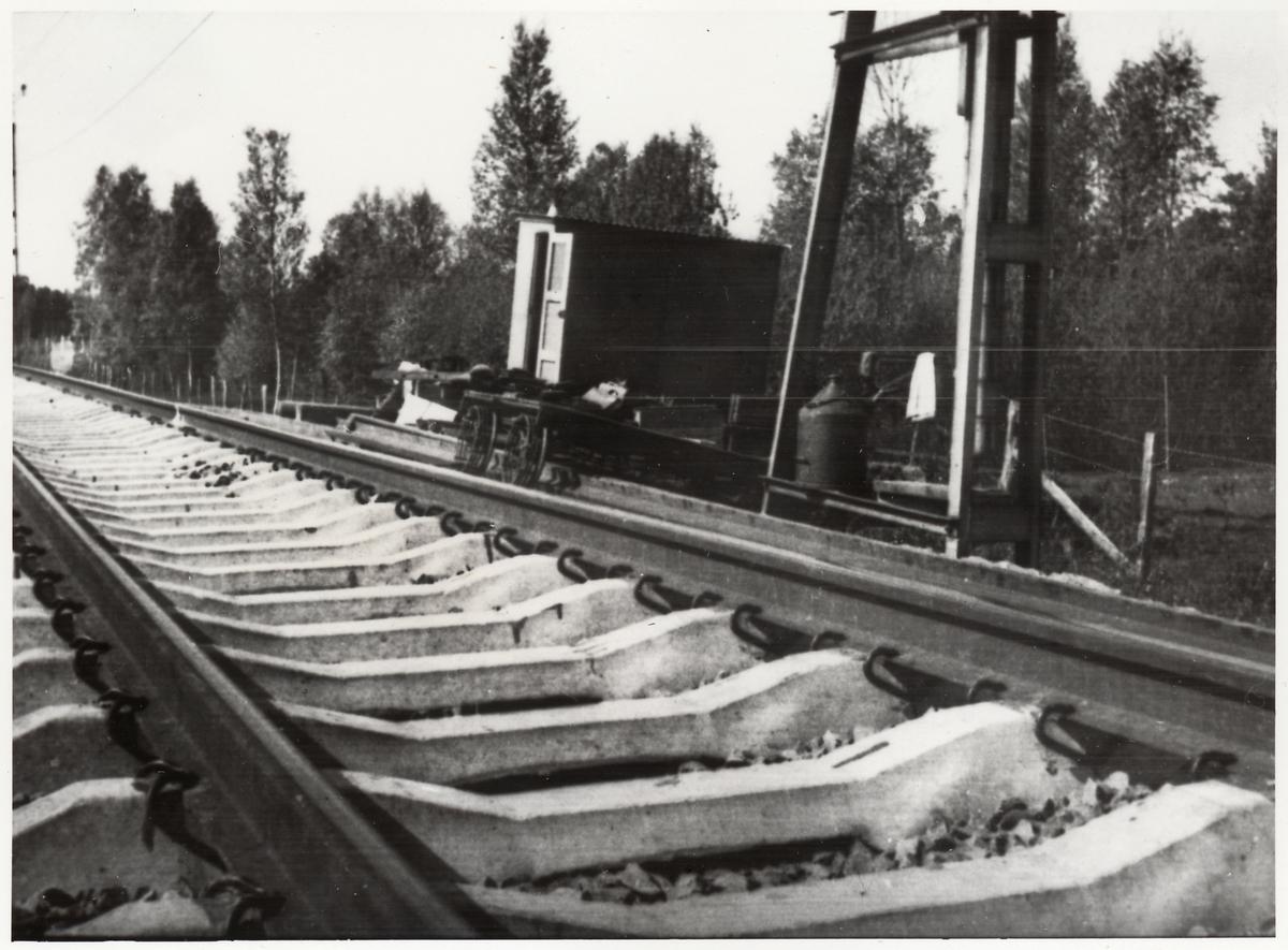 Betongslipers, på sträckan mellan Nässjö-Sävsjö.