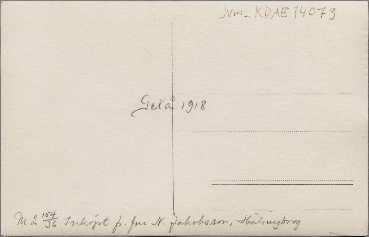 Tågolycka vid Getå den 1 oktober 1918 där bland annat, Statens Järnvägar, SJ F 1200 rasade nedför slänten efter ett banvallsras.