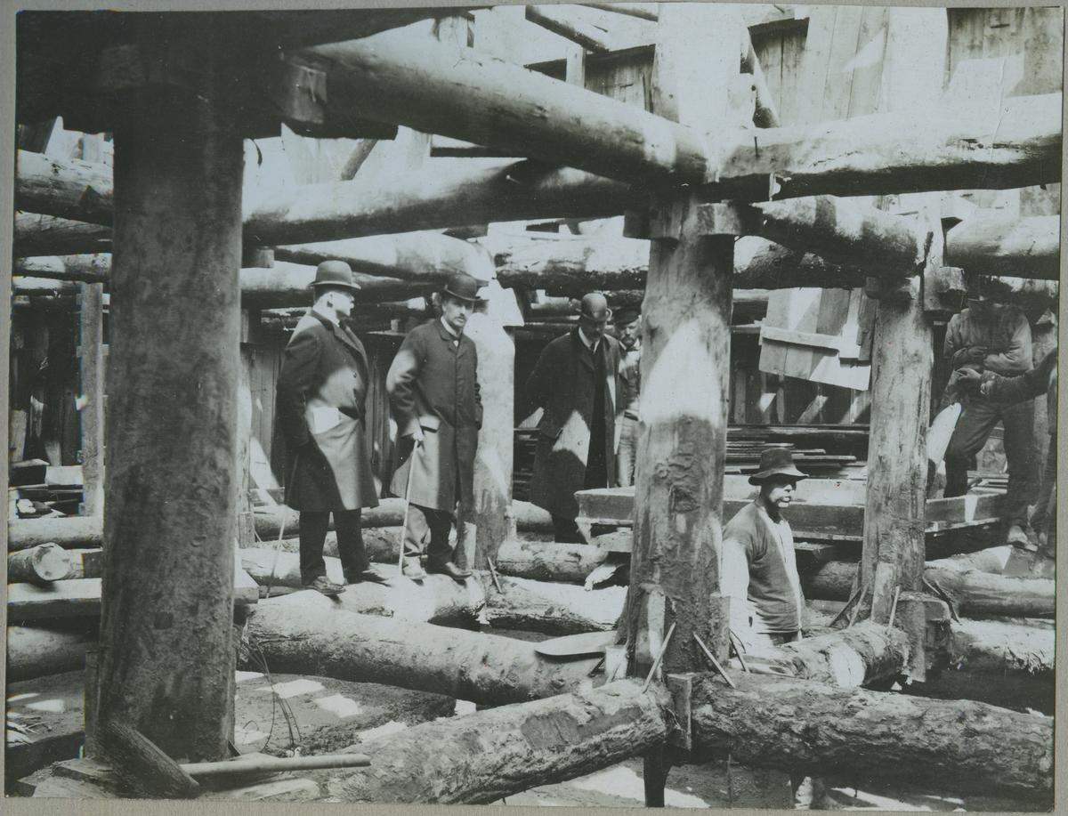 Brobygge över Göta Älv, spåntförsträvningar.