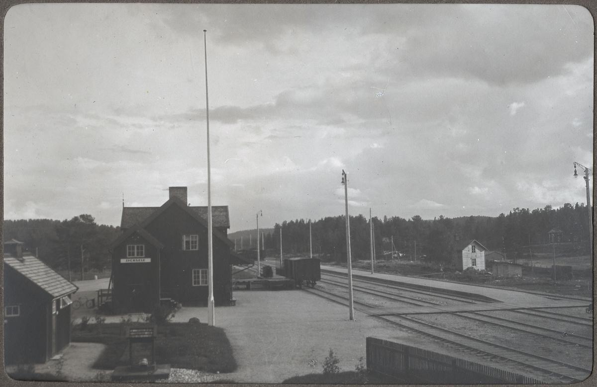 Vy över Lycksele bangård samma plats som ovanstående bild juli 1925.