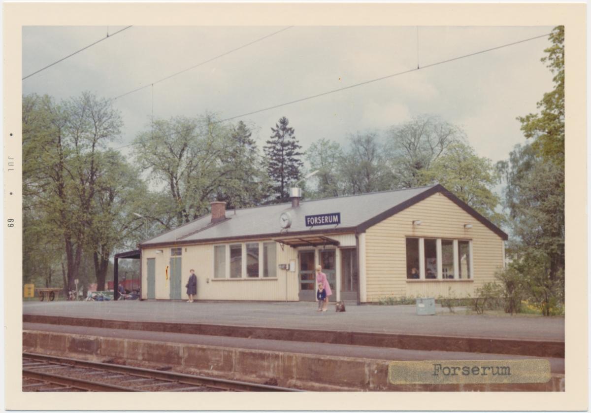 Vy över Forserums Station.