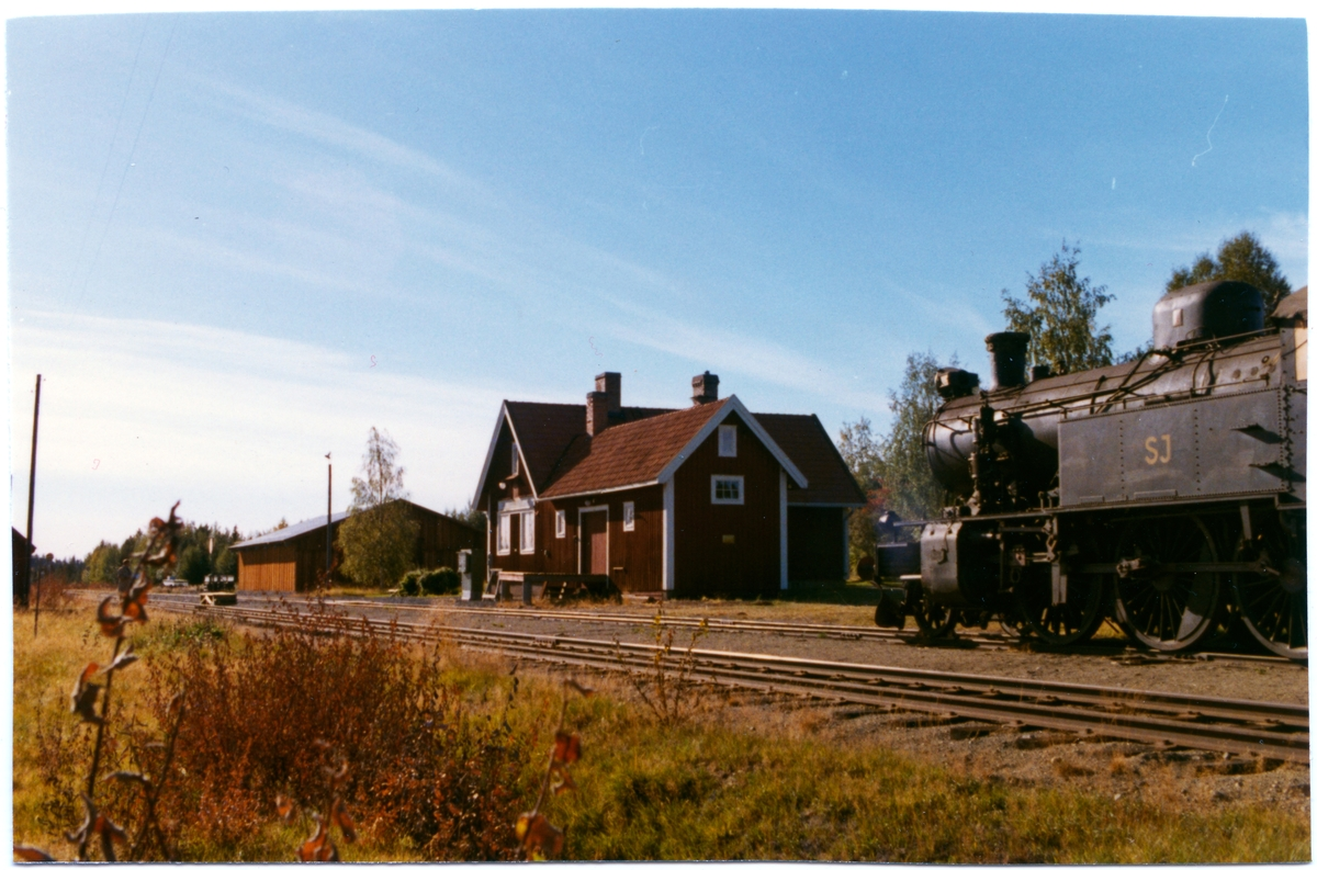 Granberget station. Statens Järnvägar, SJ ånglok.