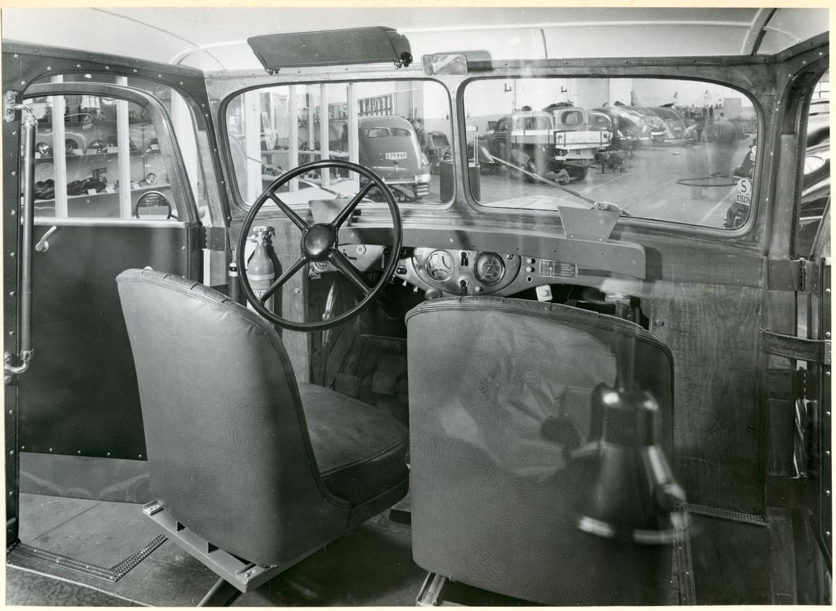 Interiör i en lastbil.
