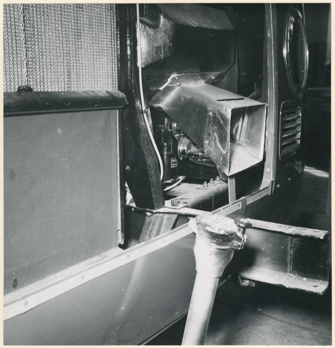 Detaljbild på utrustning i buss.
