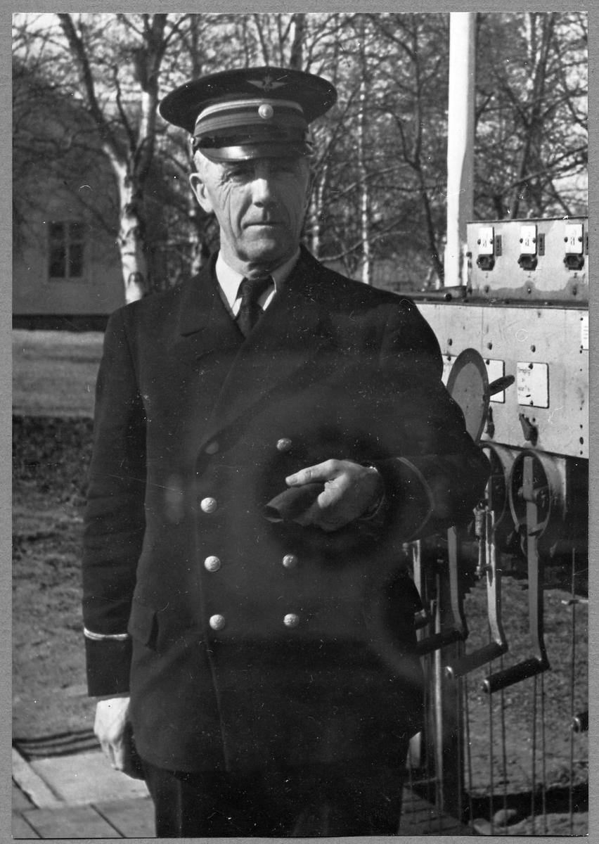 Georg A Nyman, Stationsföreståndare vid Gammelstad station 1943-1946.