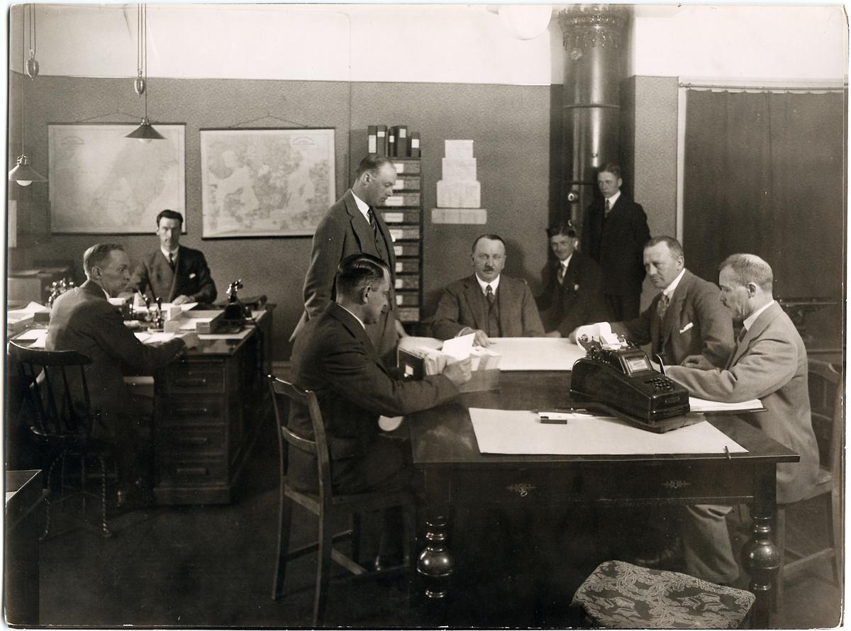 Arbetschef Ragnar Schåltz med personal.