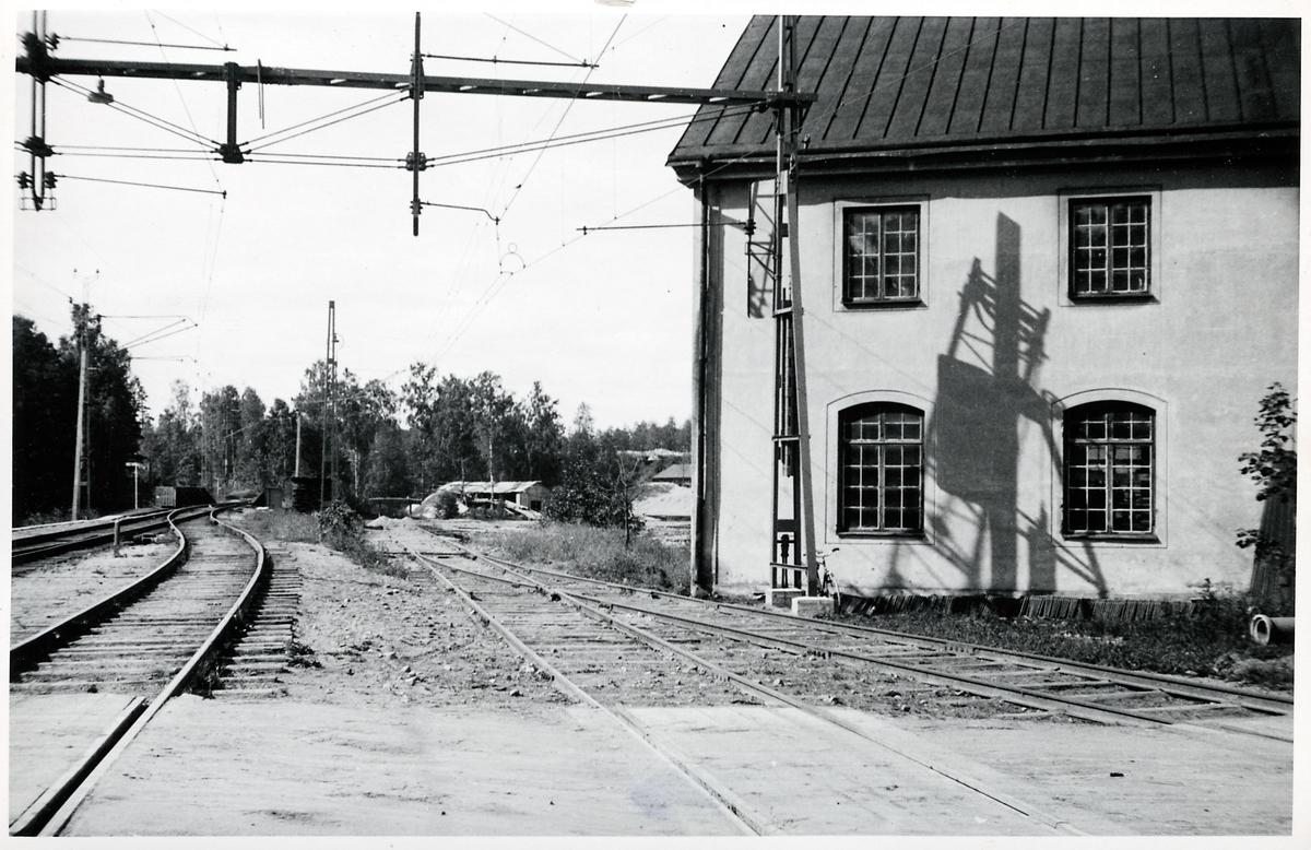 Elektrifierad bansträcka i Boxholm.