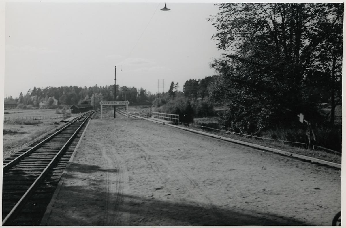 Del av bangården i Söderhamn V.