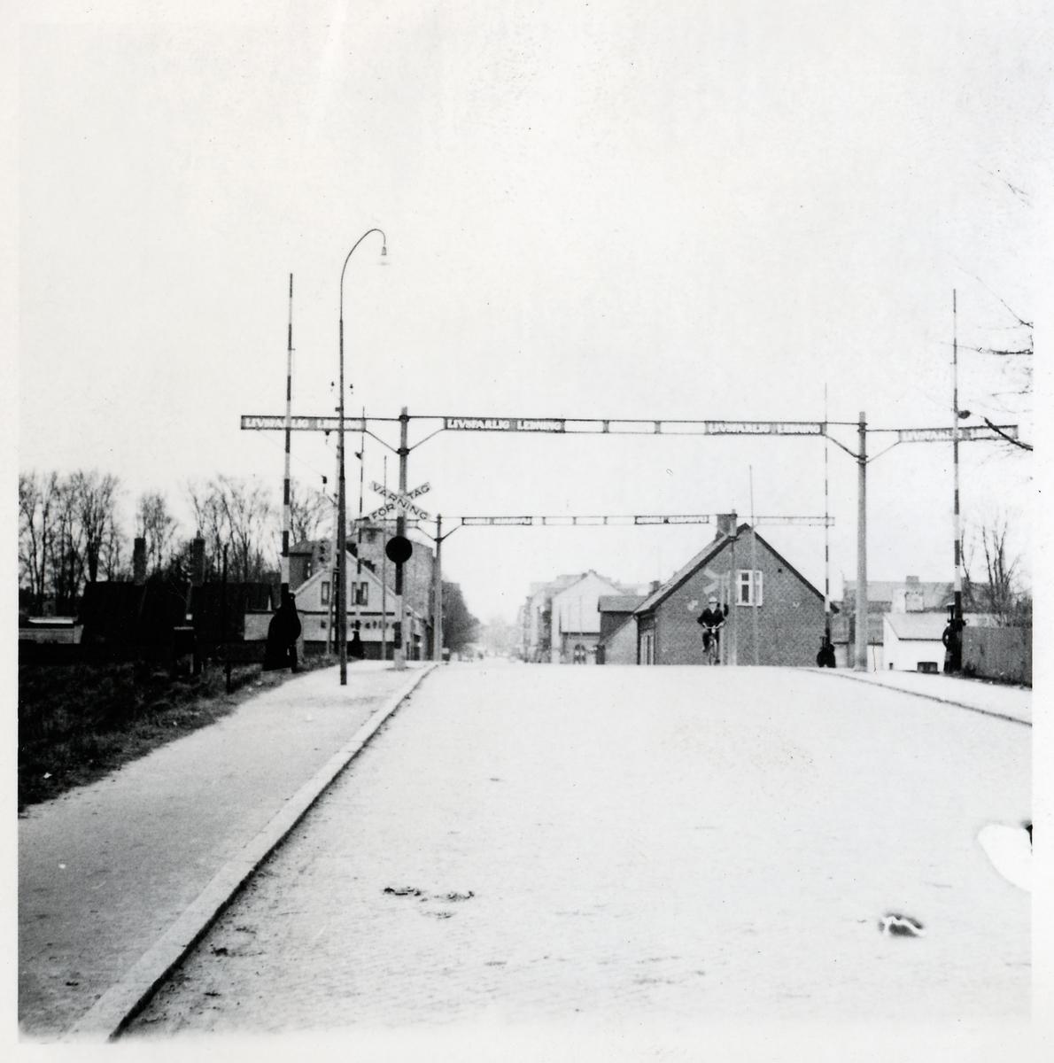 Järnvägsövergång vid Rundelsgatan i Eslöv.