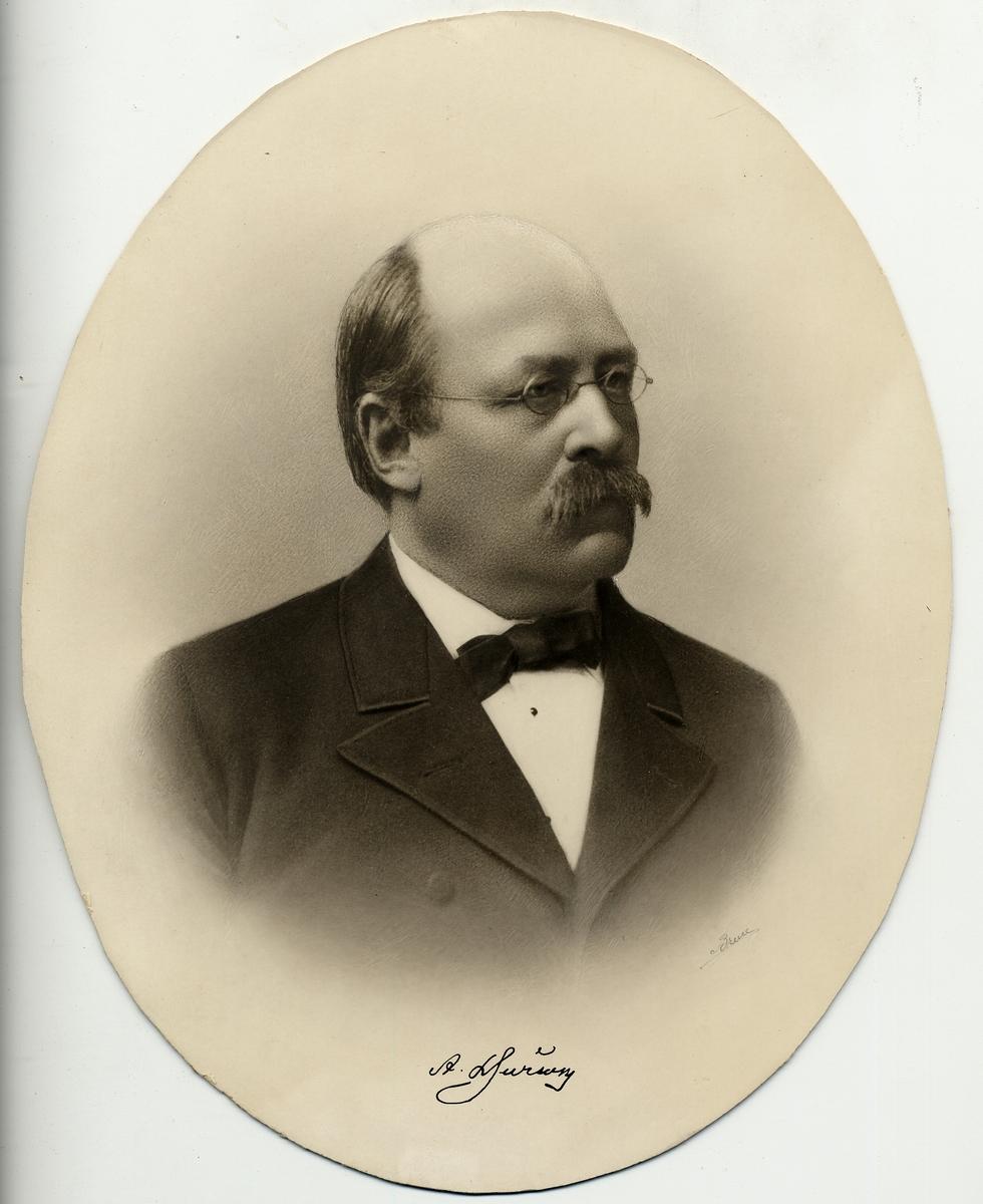 Anton Ludvig Djurson född 25/12 1829 bandirektör II distr 1/12 1866
