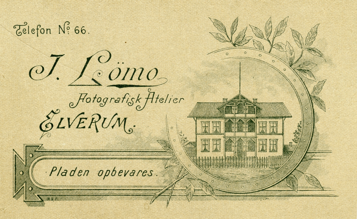 Logo til Ingeborg Lømos fotografisk atelier,Elverum.