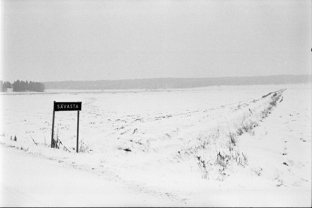 Odlingslandskap, Sävasta, Altuna, Uppland mars 1988