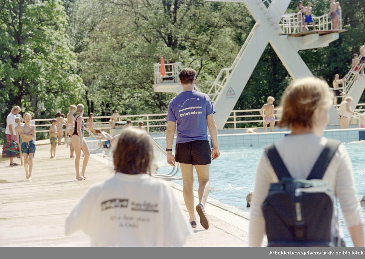 Frognerbadet. 24. juni 1996