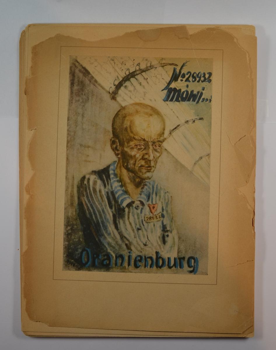 16 blyanttegninger fra leirlivet i kz-leiren Sachsenhausen. Alle er påført årstall, samt overskrift som sier noe om hendelsen. Skrevet på polsk. På baksiden av forsidebladet er skrevet med håndskrift en hilsen fra kunstneren, med årstallet 1947 og signatur.