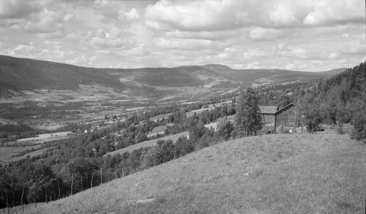 Utsikt nordover fra Øverbygda i Østre Gausdal
