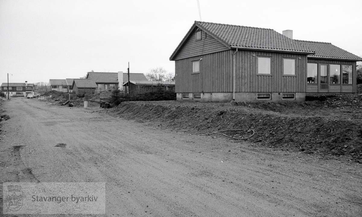 Nybygde hus i Hans Gudes vei på Stokka
