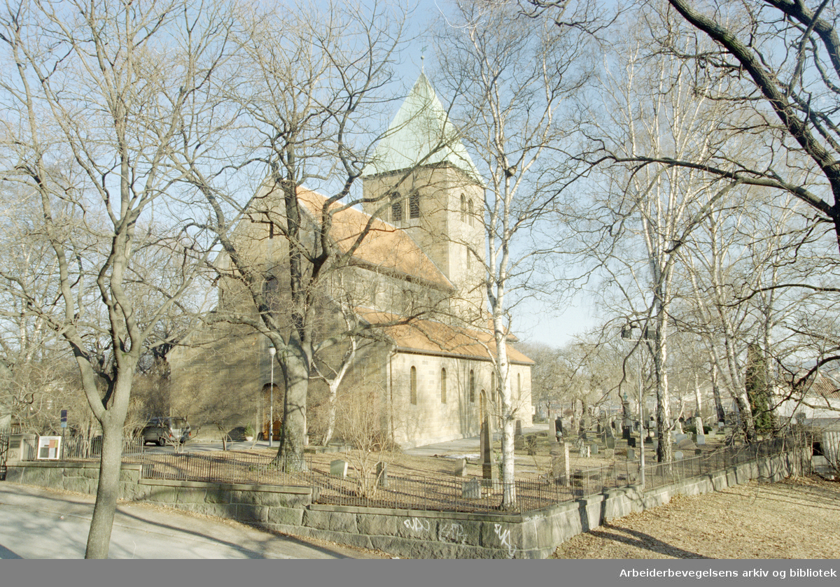 Gamle Aker kirke. 15. februar 1997