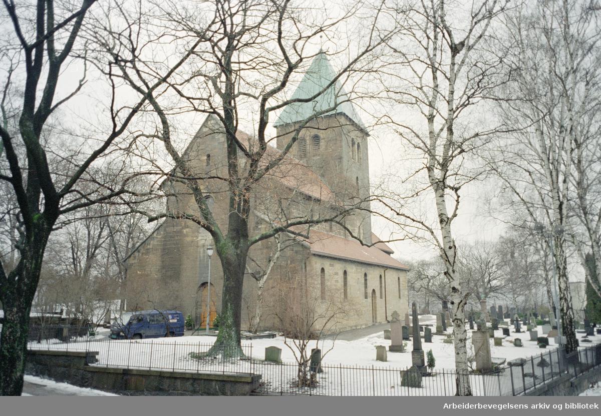 Gamle Aker kirke. 12. januar 1996