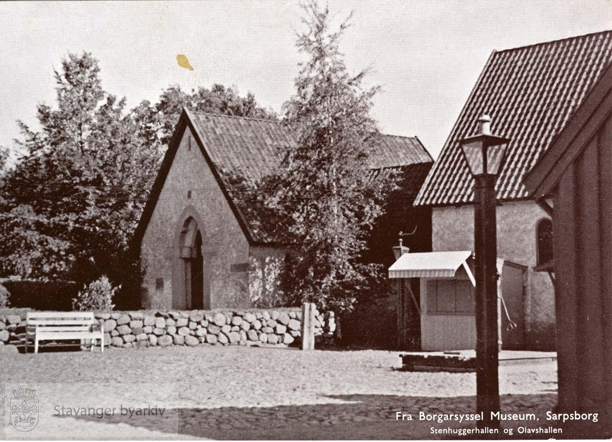 Postkort fra Stenhuggerhallen og Olavshallen