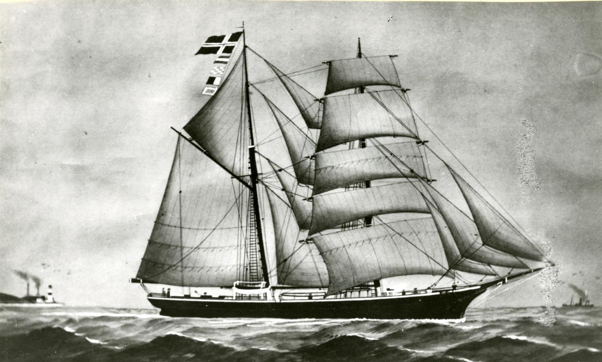 Skonnertbrigg 'Anny Føyen' (b.1868, Peder Roven, Fjeldberg, Bergen, Norge)