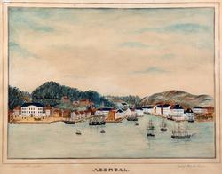Prospekt av Arendal [Akvarell]