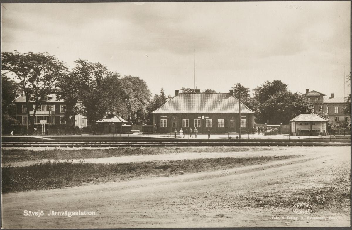 Sävsjö stationsområde.