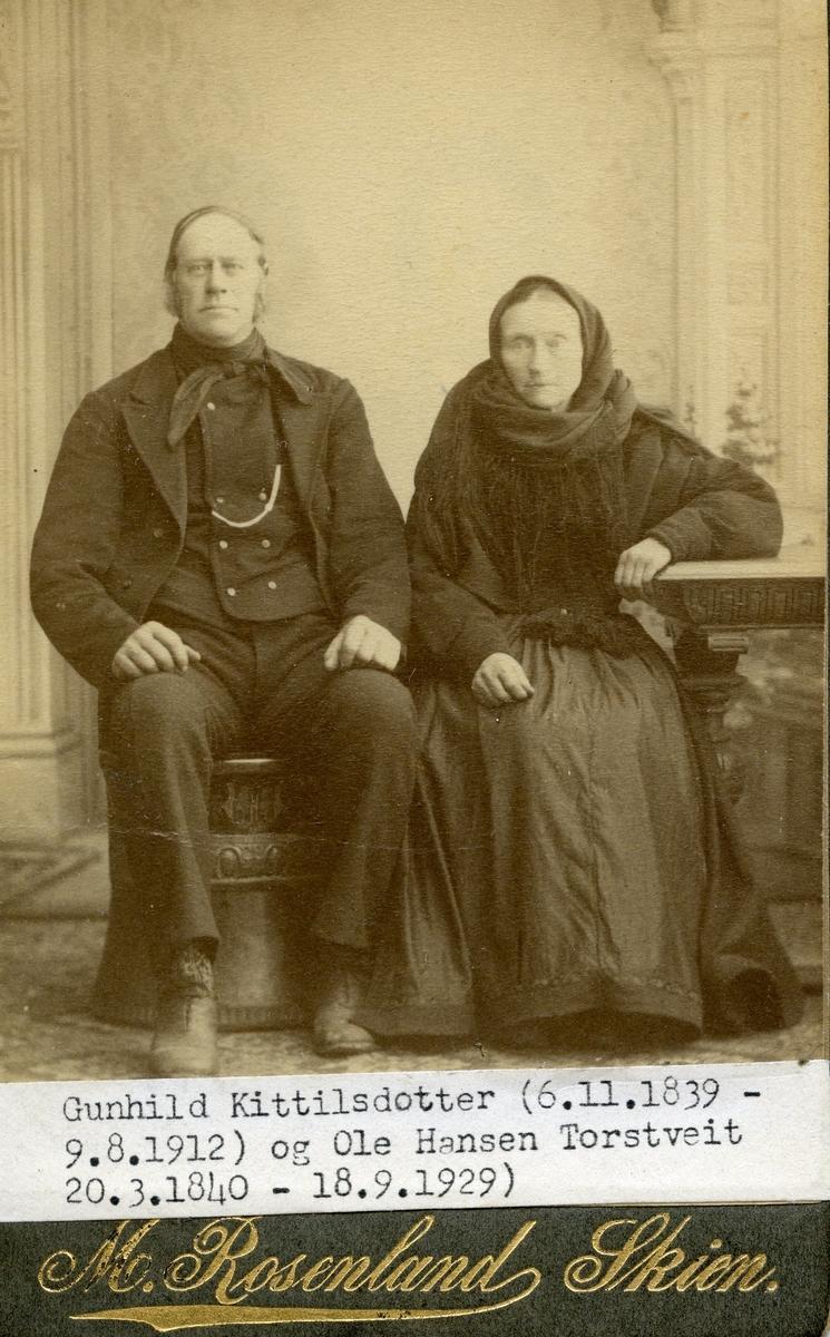 Parbilete av Gunhild Kittilsdotter og Olav Hansson Torsteit